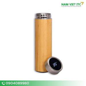 Bình giữ nhiệt tre thông minh - Quà tặng Nam Việt