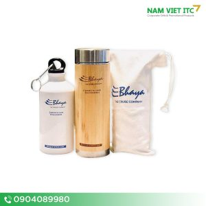 Bộ sản phẩm Bình nước – Bình giữ nhiệt tre Bhaya