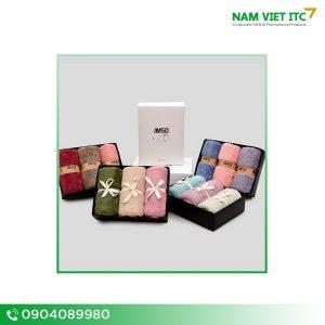 Set khăn quà tặng thêu logo JMSD